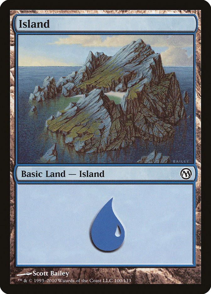 Island (100) card from Duels of the Planeswalkers