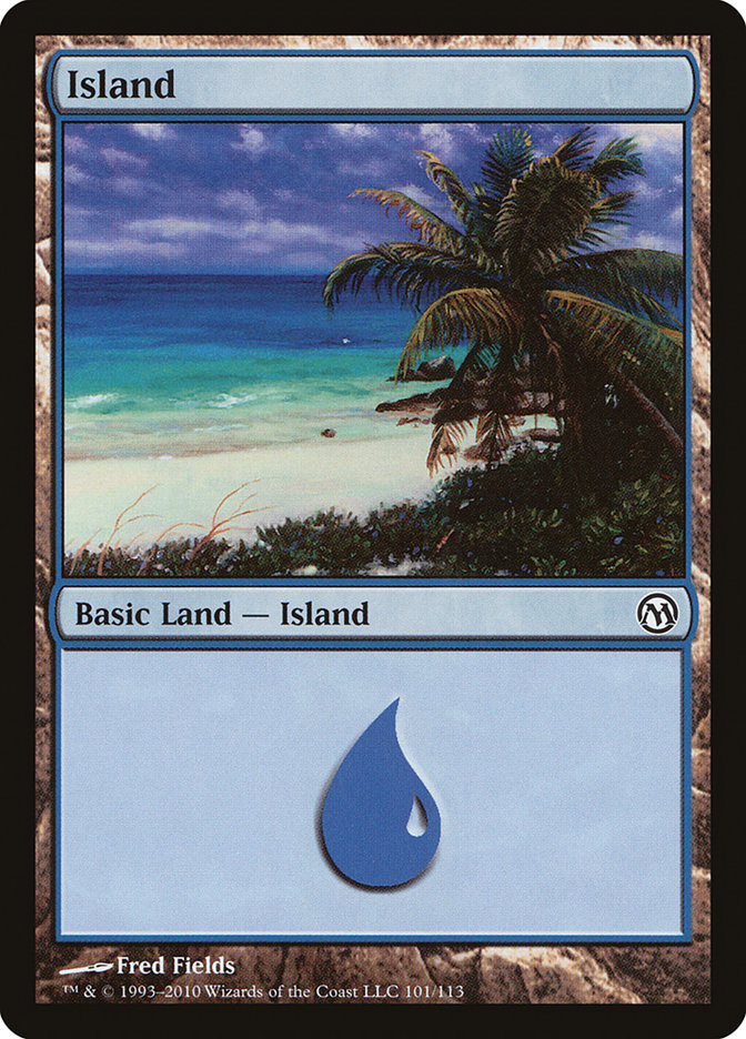 Island (101) card from Duels of the Planeswalkers
