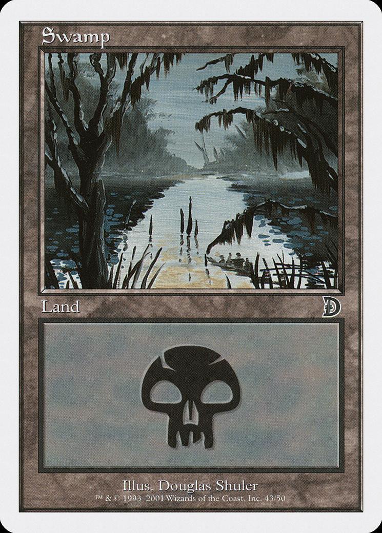 Swamp (43) card from Deckmasters: Garfield vs. Finkel