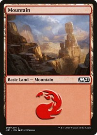 Mountain (269) card from Core Set 2021