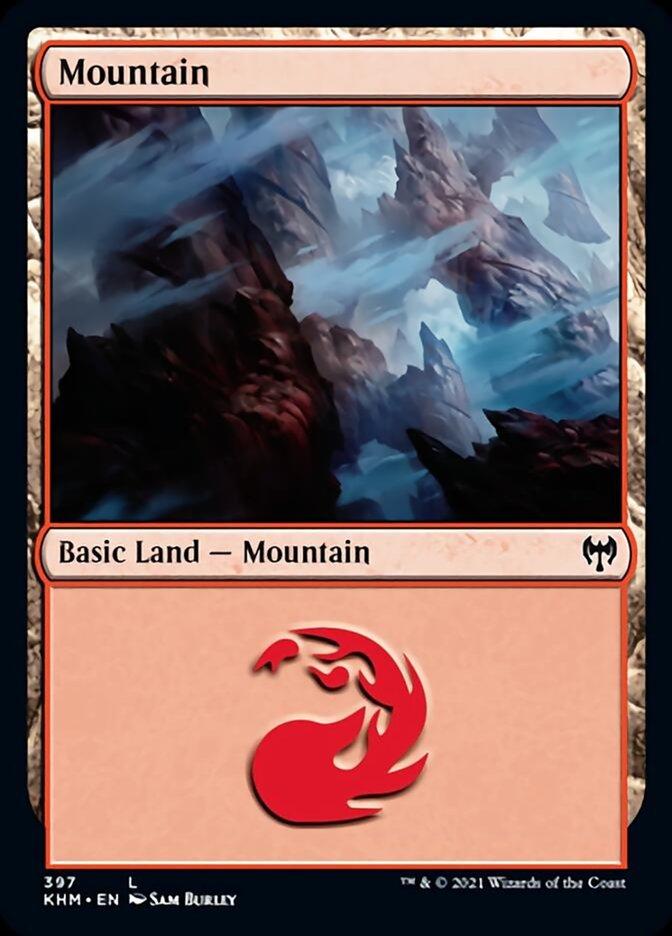 Mountain card from Kaldheim