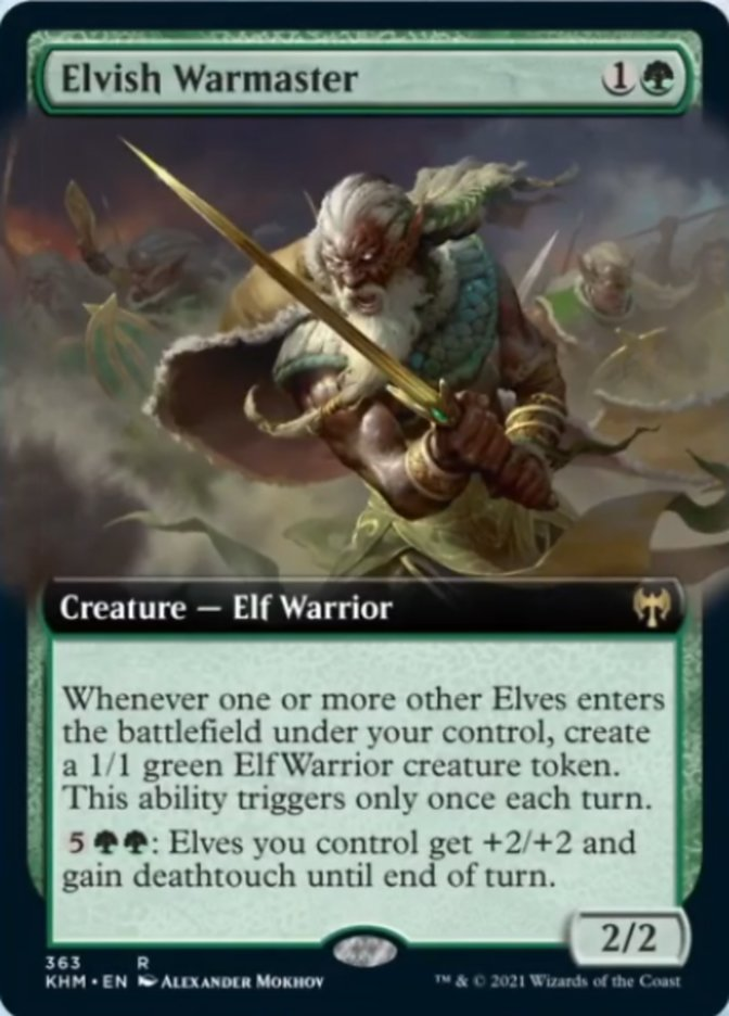 Elvish Warmaster (Extended Art)