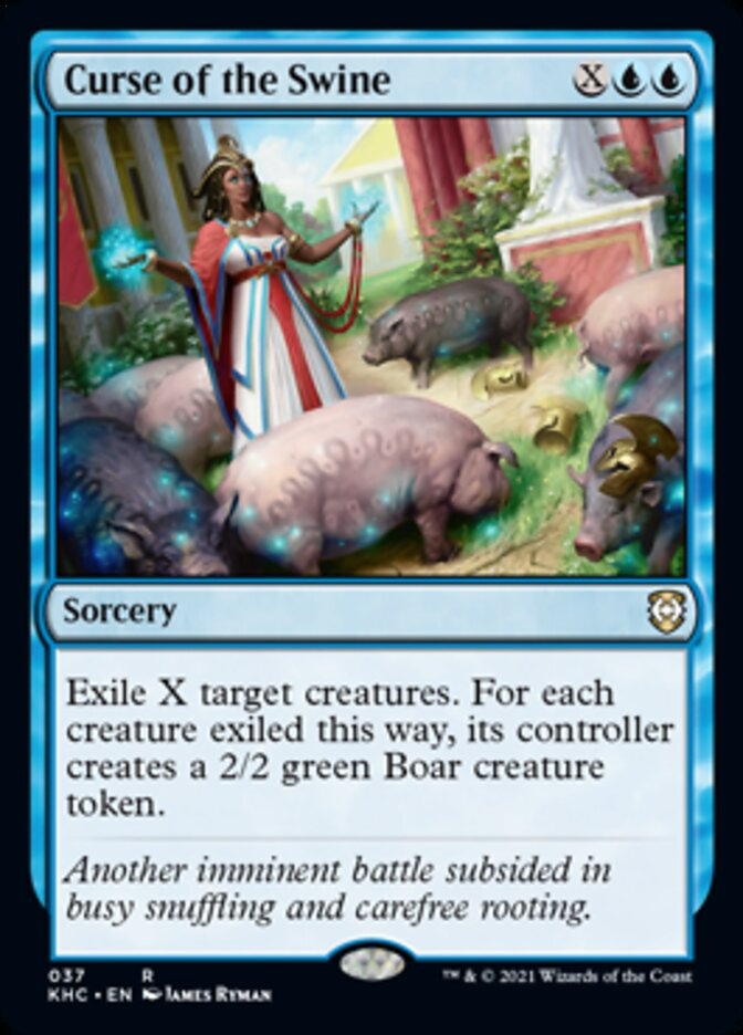 Curse of the Swine card from Commander: Kaldheim