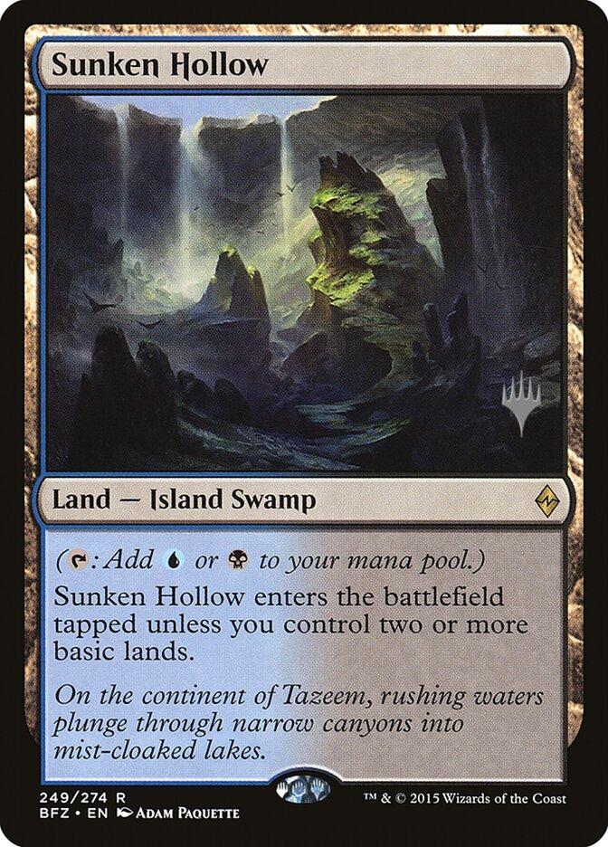 Sunken Hollow card from Promo Pack: Kaldheim