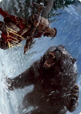 Blizzard Brawl Art Card (Gold-Stamped Signature)