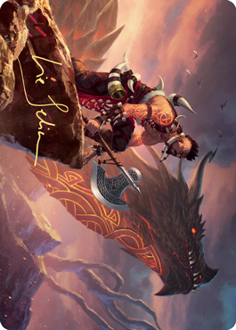 Dragonkin Berserker Art Card (Gold-Stamped Signature)