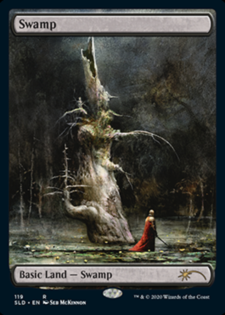Swamp (119) (Seb Mckinnon) card from Secret Lair Drop Series