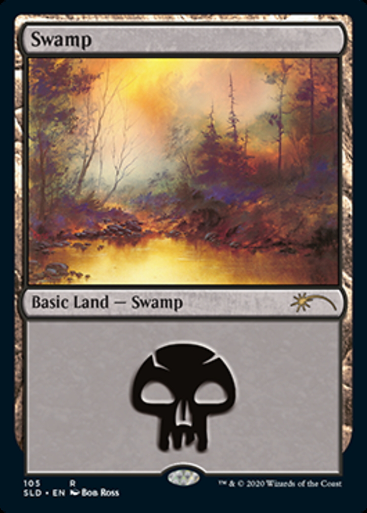 Swamp (105) (Bob Ross) card from Secret Lair Drop Series