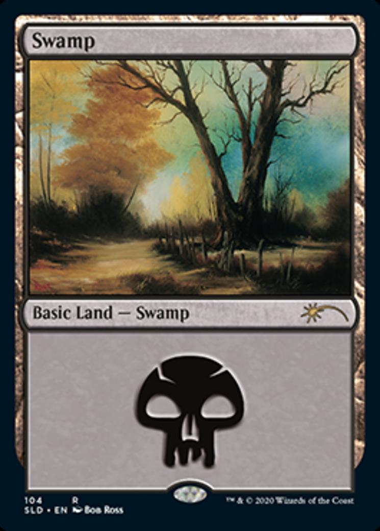 Swamp (104) (Bob Ross) card from Secret Lair Drop Series