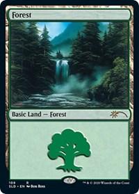 Forest (109) (Bob Ross) card from Secret Lair Drop Series