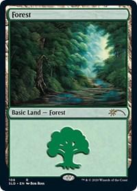 Forest (108) (Bob Ross) card from Secret Lair Drop Series