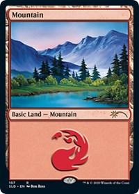 Mountain (107) (Bob Ross) card from Secret Lair Drop Series