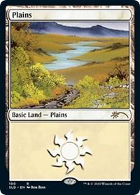 Plains (100) (Bob Ross) card from Secret Lair Drop Series