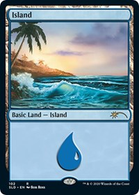 Island (102) (Bob Ross) card from Secret Lair Drop Series