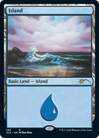 Island (103) (Bob Ross) card from Secret Lair Drop Series