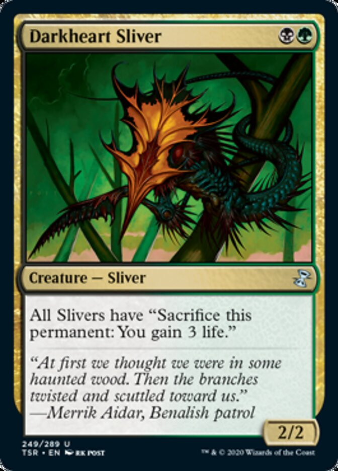 Darkheart Sliver card from Time Spiral Remastered