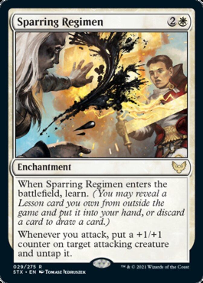 Sparring Regimen card from Strixhaven: School of Mages