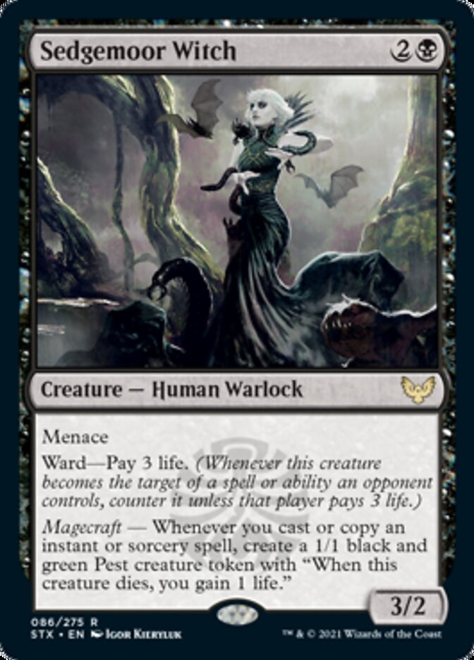 Sedgemoor Witch card from Strixhaven: School of Mages