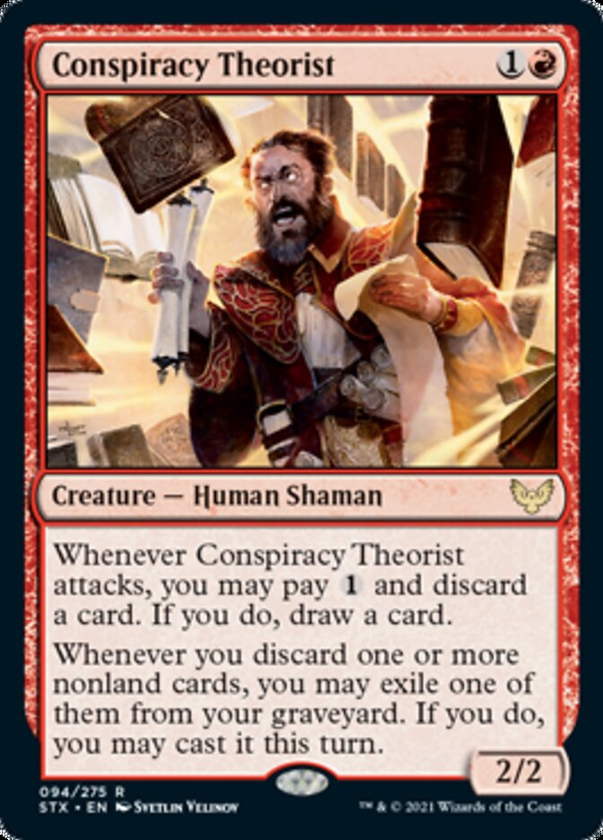 Conspiracy Theorist card from Strixhaven: School of Mages
