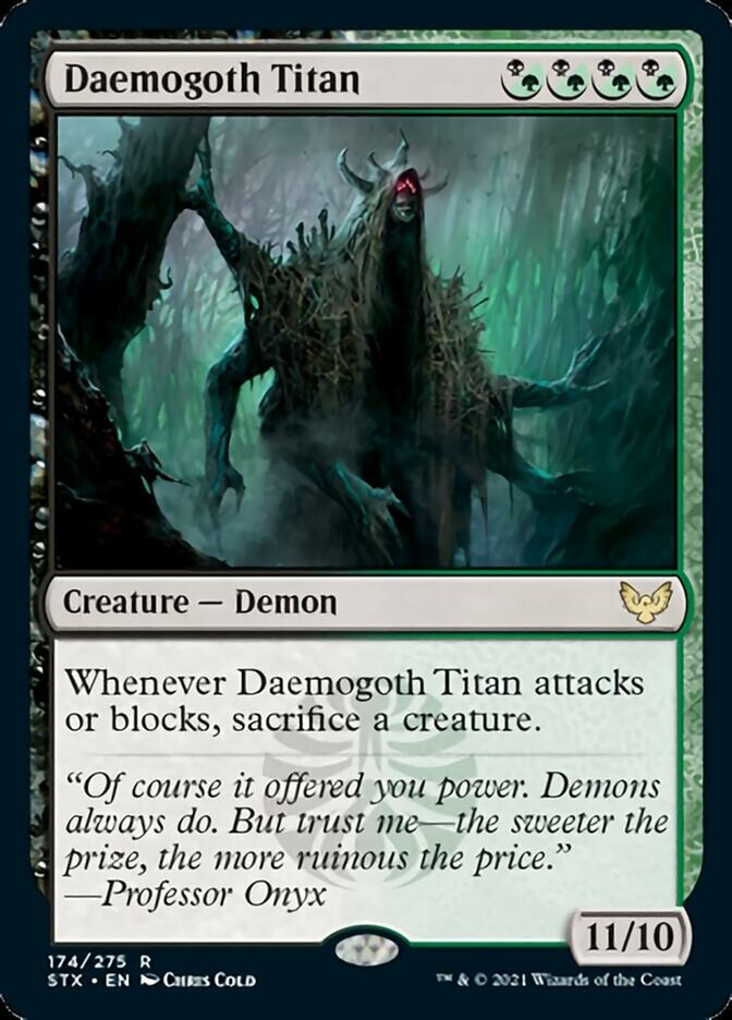 Daemogoth Titan card from Strixhaven: School of Mages