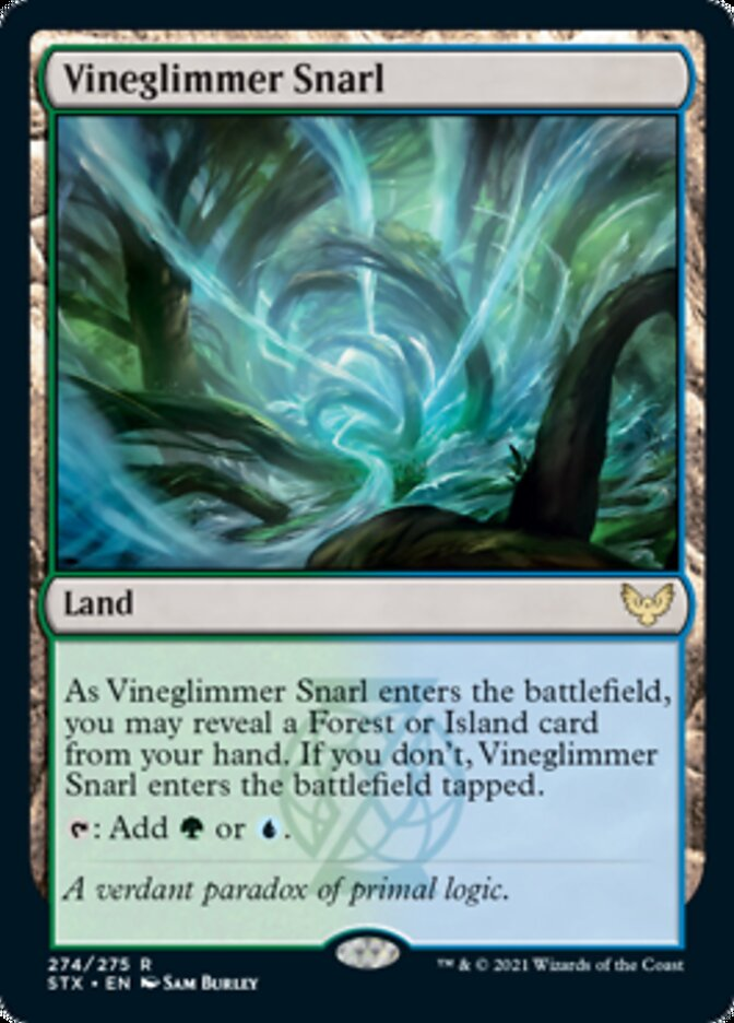Vineglimmer Snarl card from Strixhaven: School of Mages