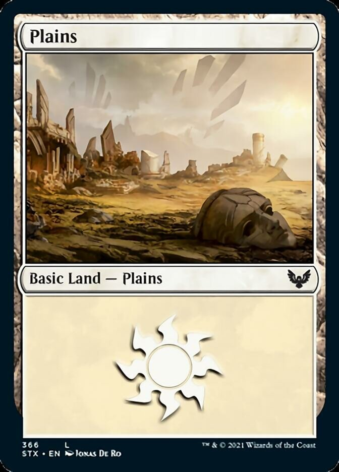 Plains (366) card from Strixhaven: School of Mages