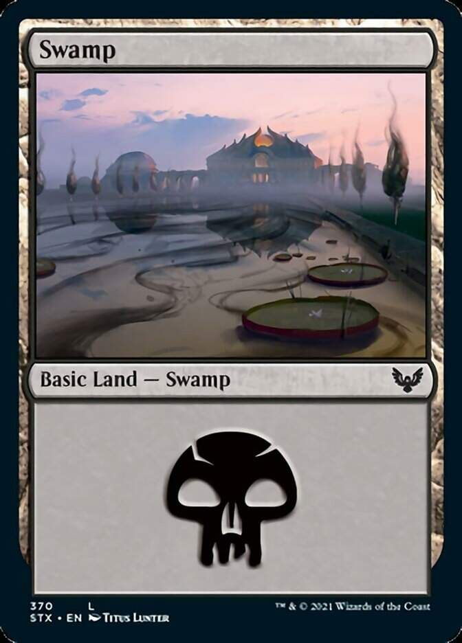 Swamp (370) card from Strixhaven: School of Mages
