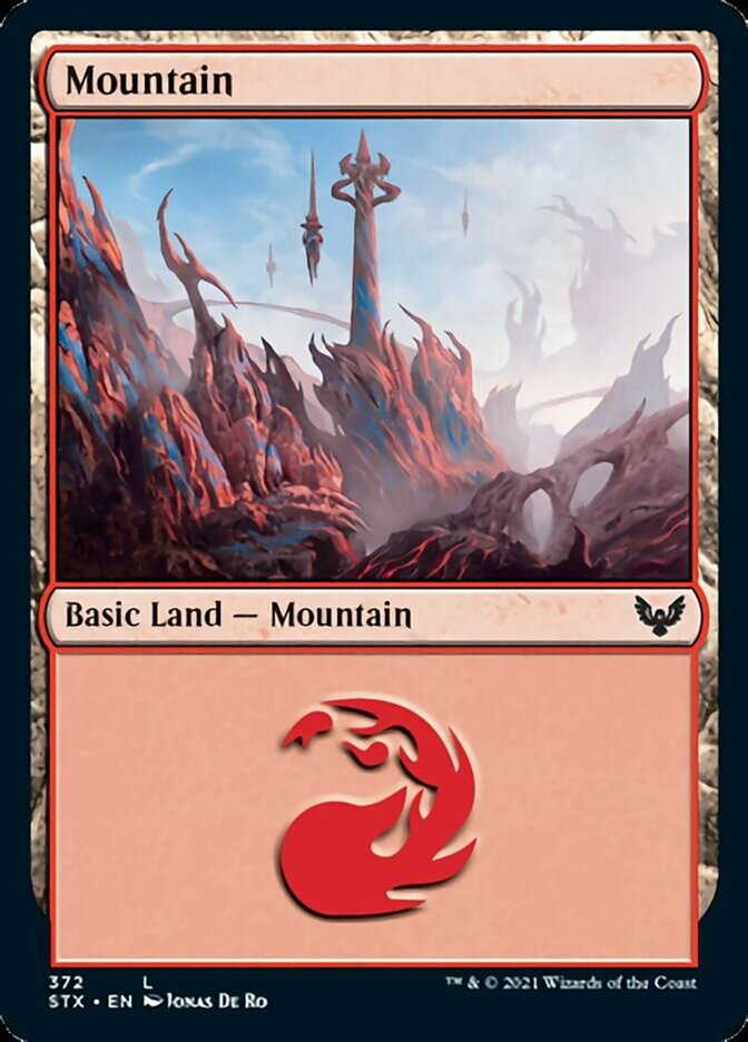 Mountain (372) card from Strixhaven: School of Mages