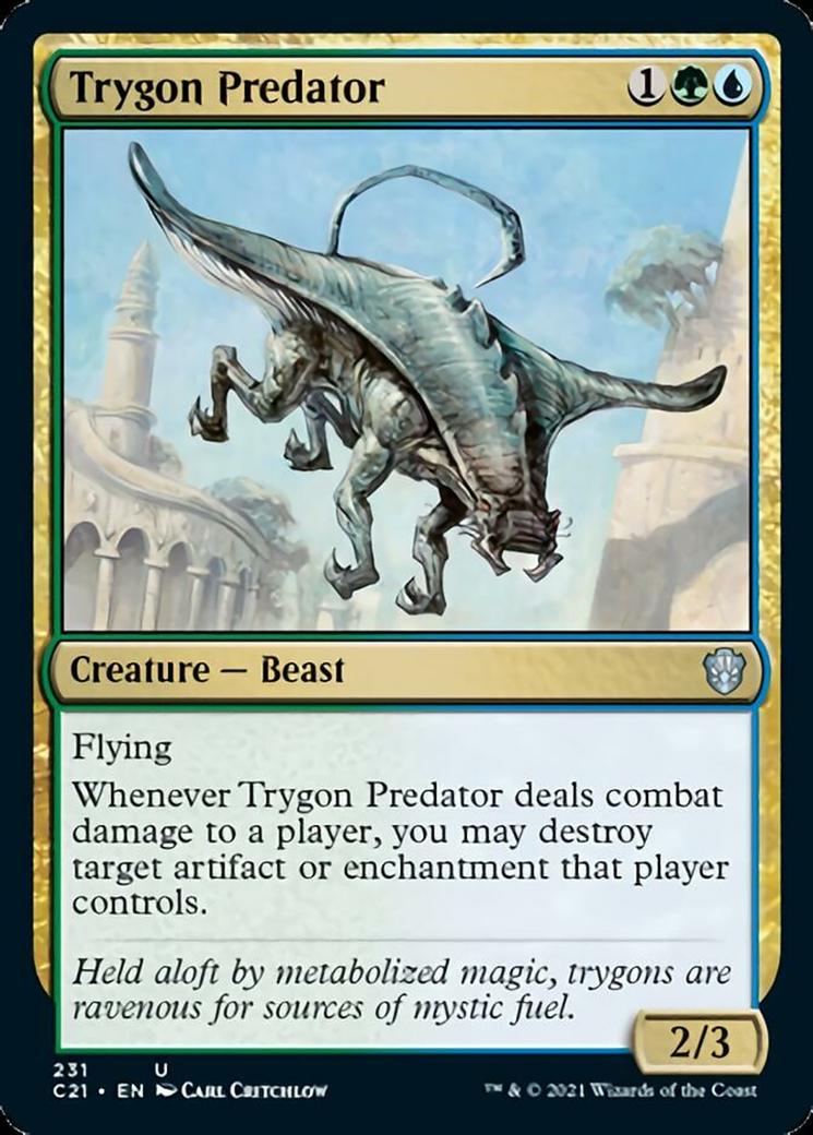 Trygon Predator card from Commander 2021