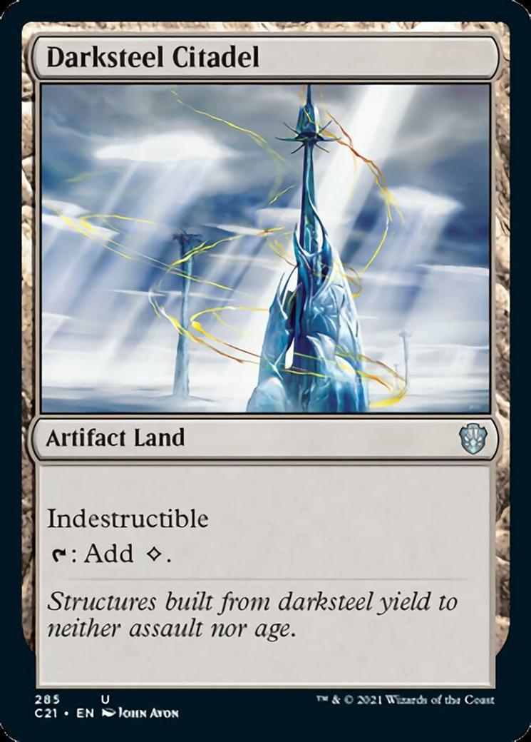 Darksteel Citadel card from Commander 2021