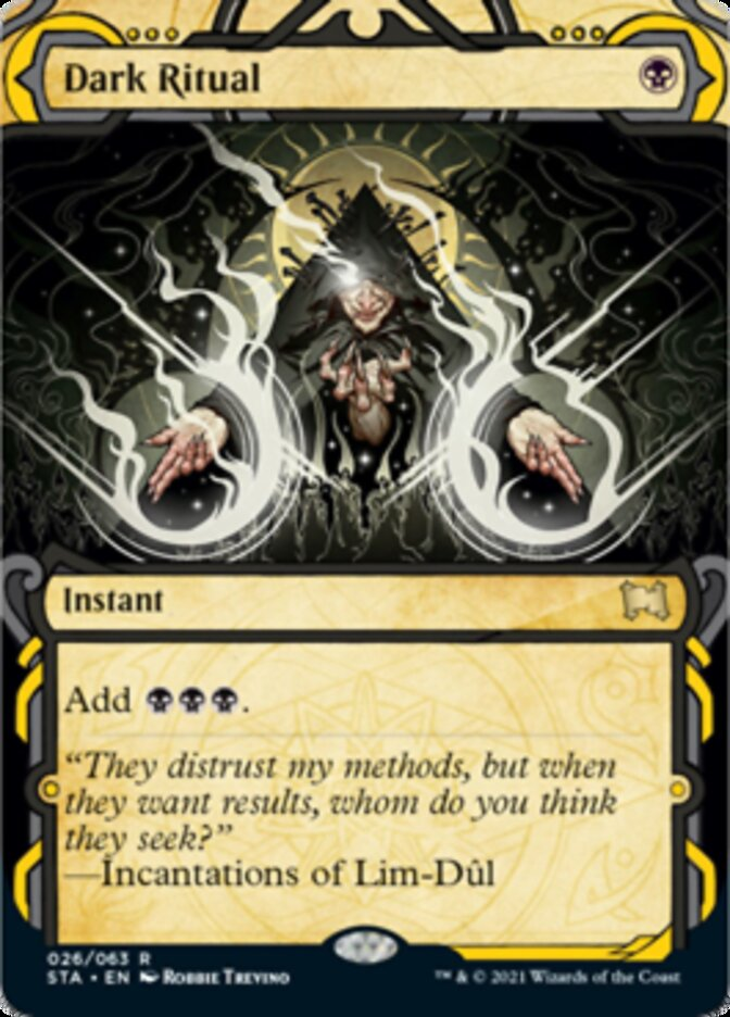 Dark Ritual (Foil Etched) card from Strixhaven Mystical Archive