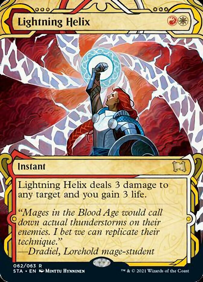 Lightning Helix (Foil Etched) card from Strixhaven Mystical Archive