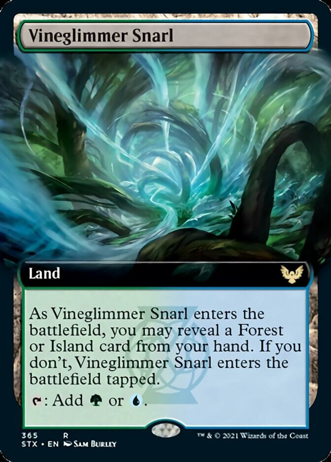 Vineglimmer Snarl (Extended Art) card from Strixhaven: School of Mages
