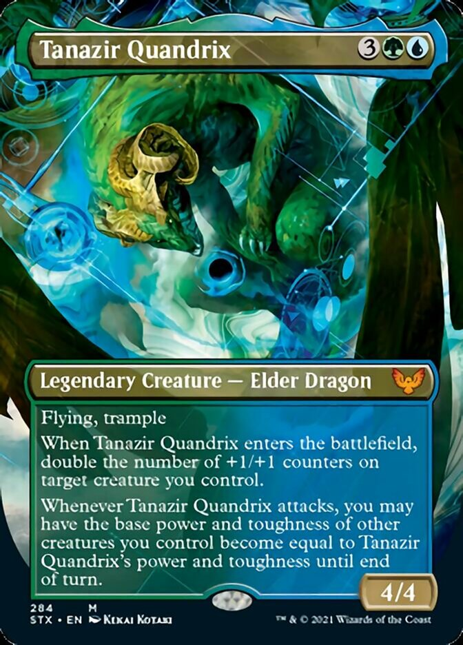 Tanazir Quandrix (Borderless) card from Strixhaven: School of Mages