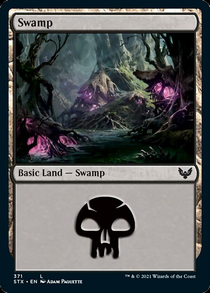 Swamp (371) card from Strixhaven: School of Mages