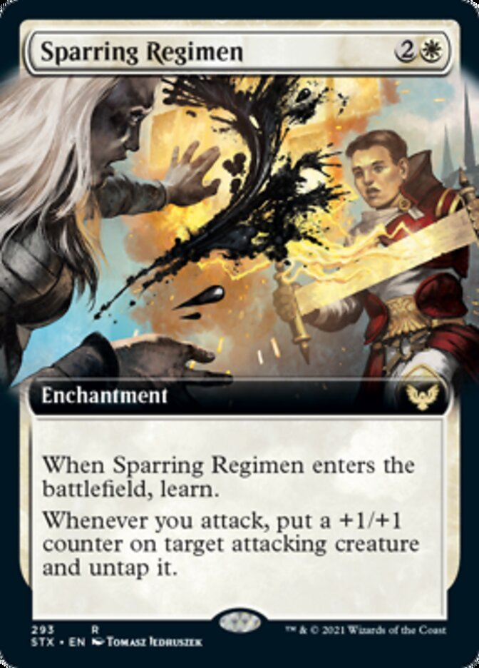 Sparring Regimen (Extended Art) card from Strixhaven: School of Mages