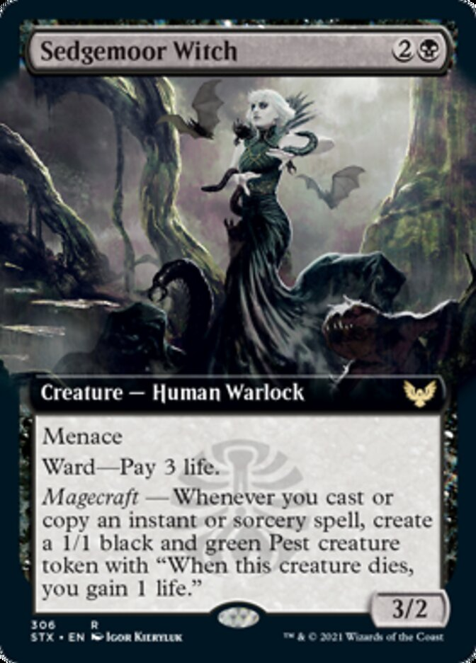 Sedgemoor Witch (Extended Art) card from Strixhaven: School of Mages