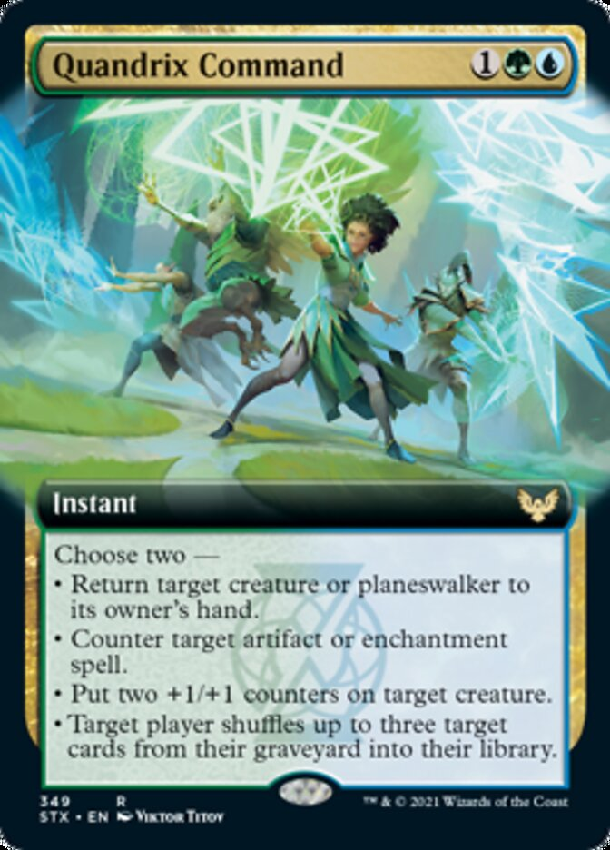 Quandrix Command (Extended Art) card from Strixhaven: School of Mages