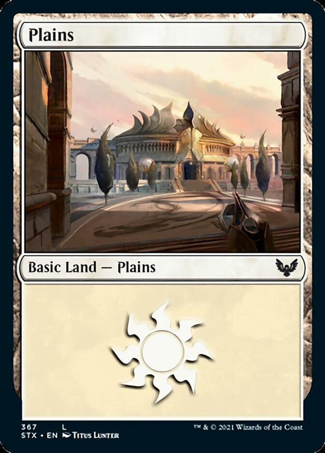 Plains (367) card from Strixhaven: School of Mages