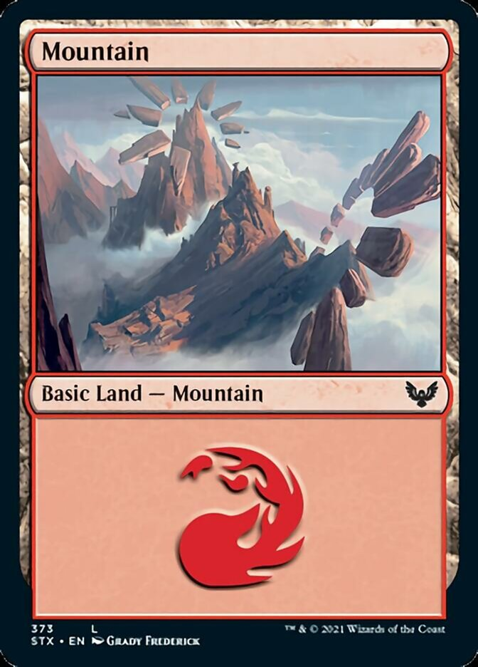 Mountain (373) card from Strixhaven: School of Mages