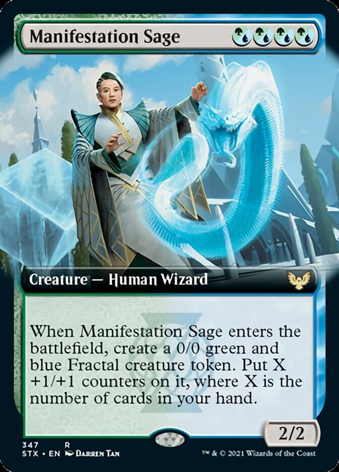 Manifestation Sage (Extended Art) card from Strixhaven: School of Mages
