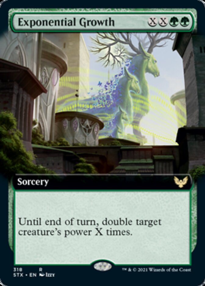 Exponential Growth (Extended Art) card from Strixhaven: School of Mages