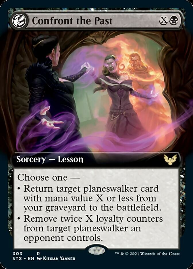 Confront the Past (Extended Art) card from Strixhaven: School of Mages