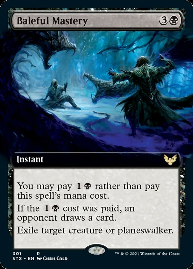 Baleful Mastery (Extended Art) card from Strixhaven: School of Mages