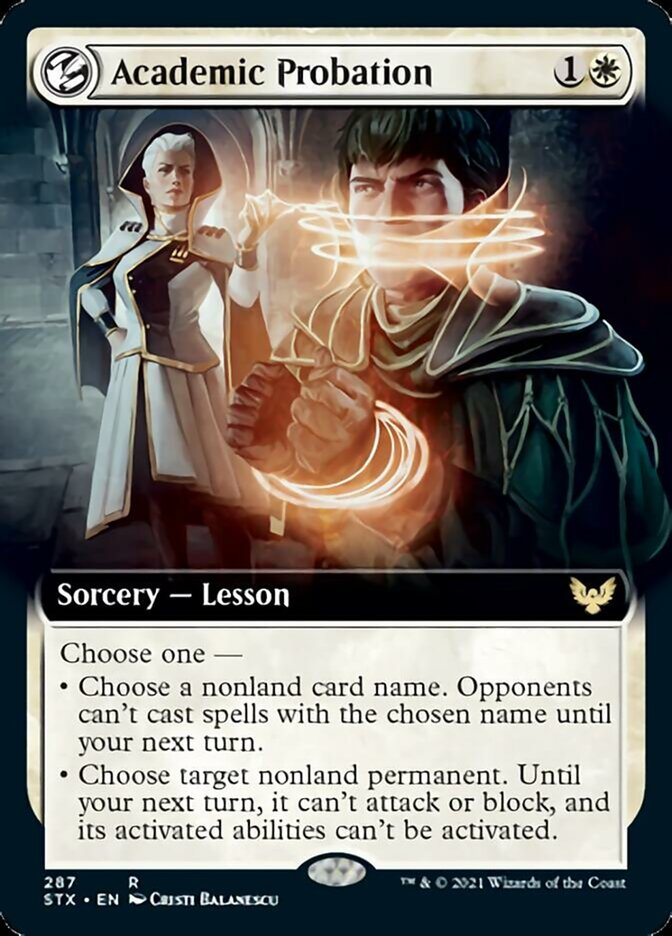 Academic Probation (Extended Art) card from Strixhaven: School of Mages