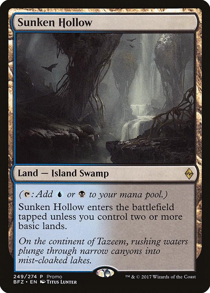 Sunken Hollow card from Standard Showdown Promos