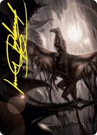Shadrix Silverquill Art Card (Gold-Stamped Signature)