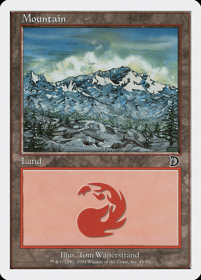 Mountain card from Deckmasters