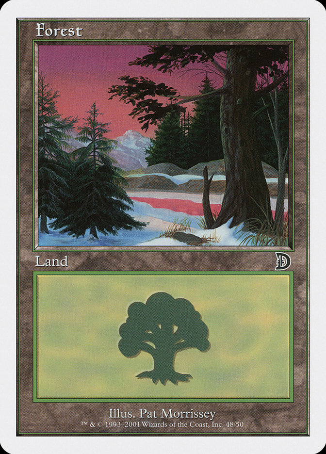 Forest (48) card from Deckmasters: Garfield vs. Finkel