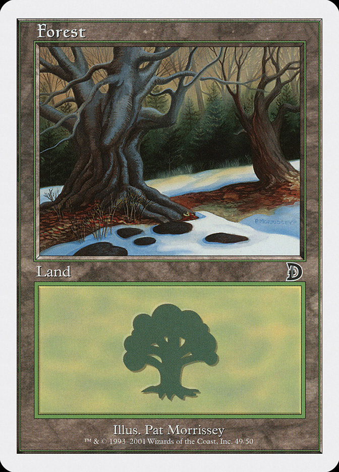 Forest (49) card from Deckmasters: Garfield vs. Finkel
